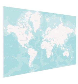 Wereldkaart op poster