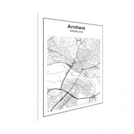 Stadskaart Arnhem zwart-wit poster