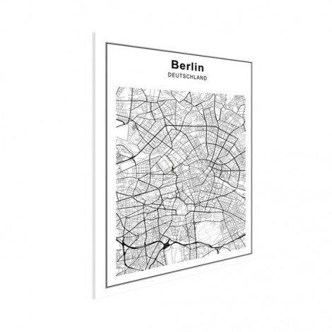 Stadskaart Berlijn zwart-wit poster