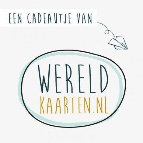 Cadeaubon €100,- Wereldkaarten.nl