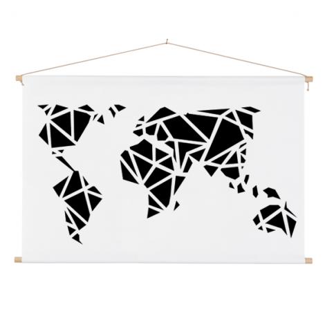 Geometrisch zwart schoolplaat