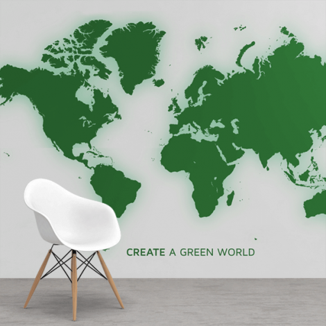 Groen behang