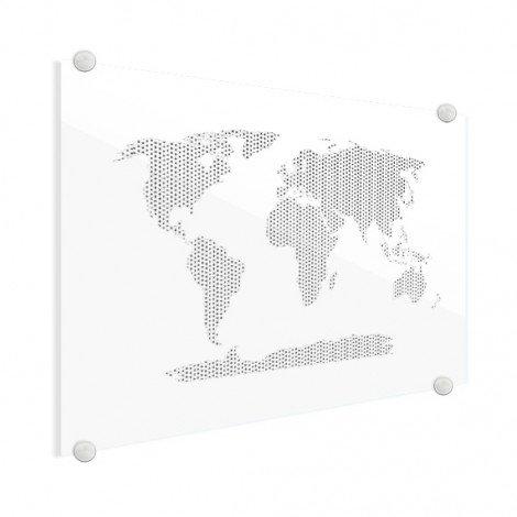 Kruisjes en plusjes zwart-wit plexiglas