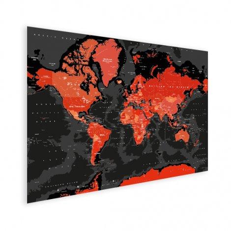 Rood - zwart poster