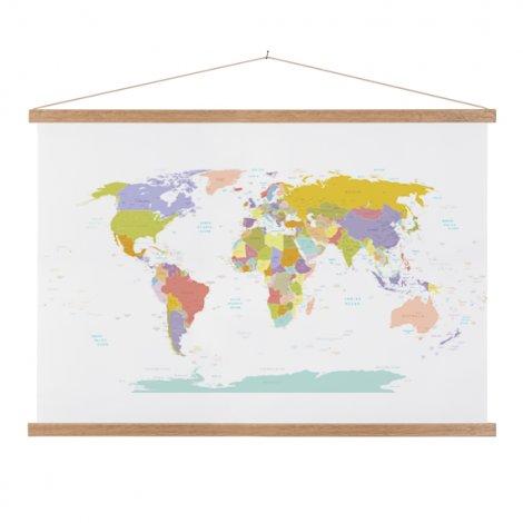 Alle landen - pastel schoolplaat