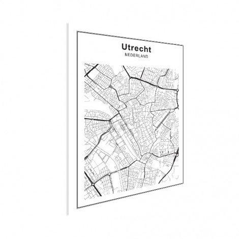 Stadskaart Utrecht zwart-wit poster