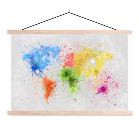 Gekleurde inkt schoolplaat