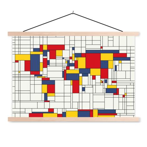 Mondriaan origineel schoolplaat
