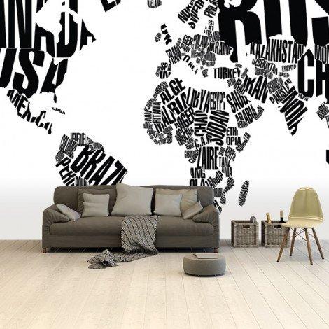 Tekst - zwart behang