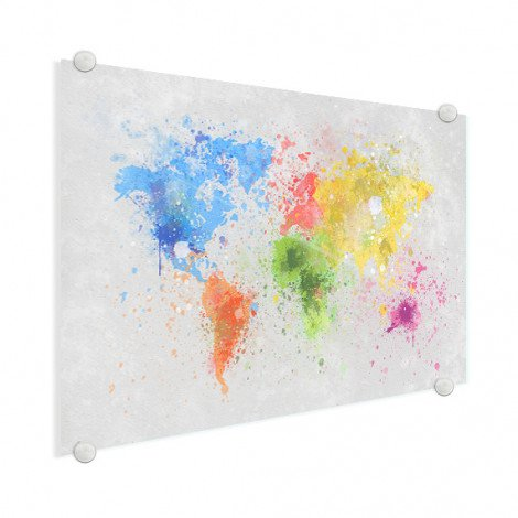 Gekleurde inkt splash plexiglas