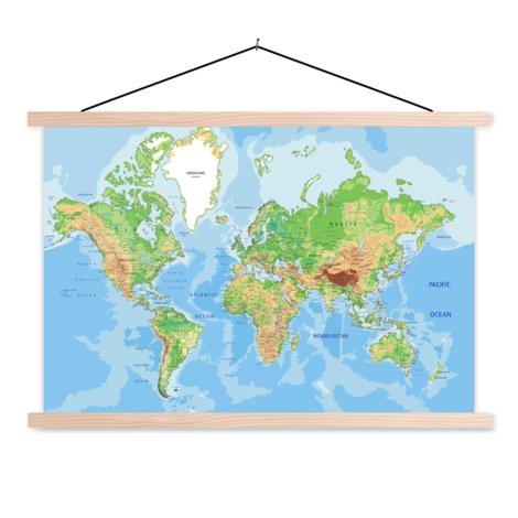 Geografisch schoolplaat