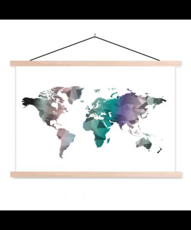 Geometrisch kleur schoolplaat