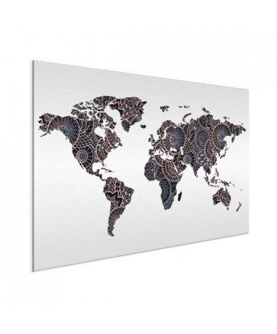 Aziatische print zwart-roze aluminium