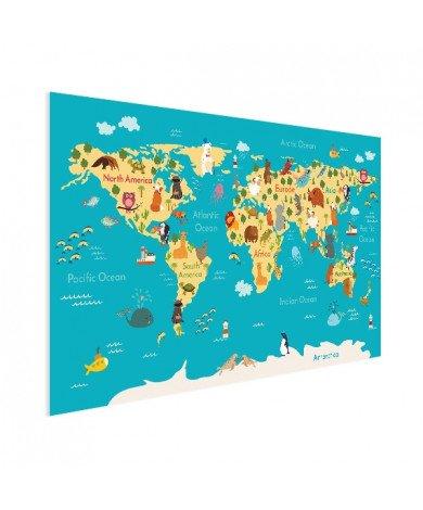 Continenten en zeëen poster