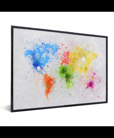 Gekleurde inkt splash in lijst