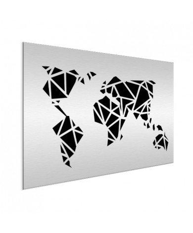 Geometrisch - zwart aluminium