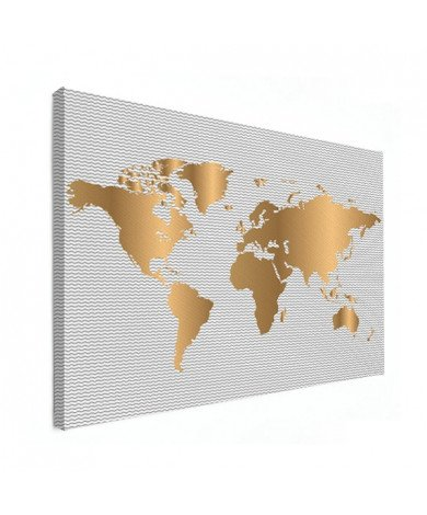Goud golven canvas