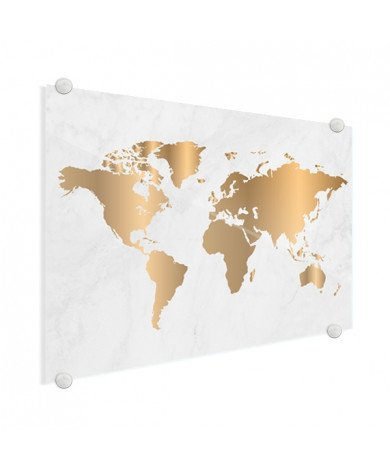 Goud marmer plexiglas