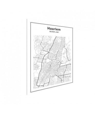 Stadskaart Haarlem zwart-wit poster