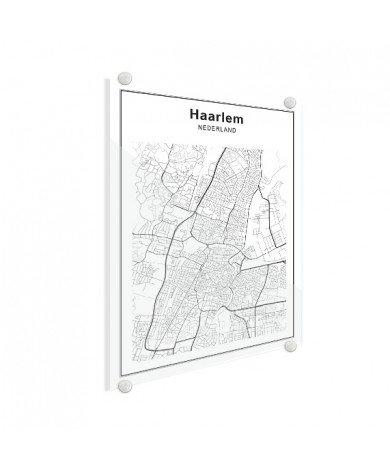 Stadskaart Middelburg zwart-wit plexiglas