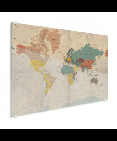 Verkleurd historisch plexiglas