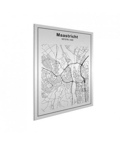 Stadskaart Maastricht zwart-wit aluminium