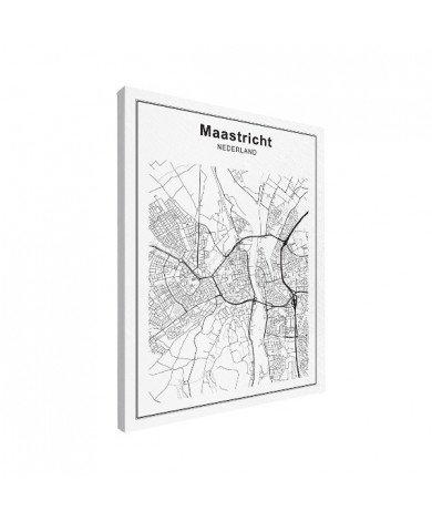 Stadskaart Maastricht zwart-wit canvas
