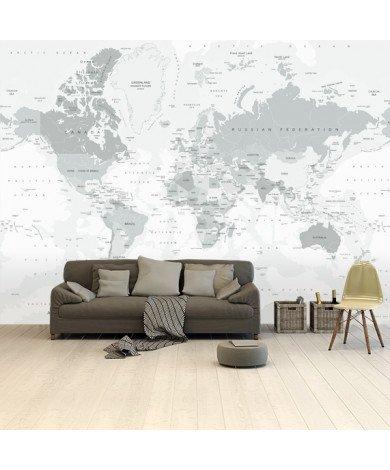 Realistisch - grijstinten behang