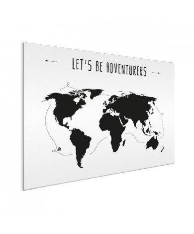 Tekst adventures aluminium