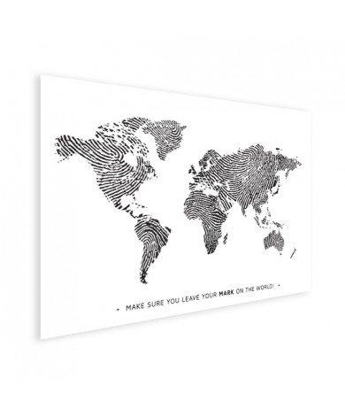 Vingerafdruk - zwart wit met tekst poster