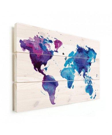 Aquarel verf hout