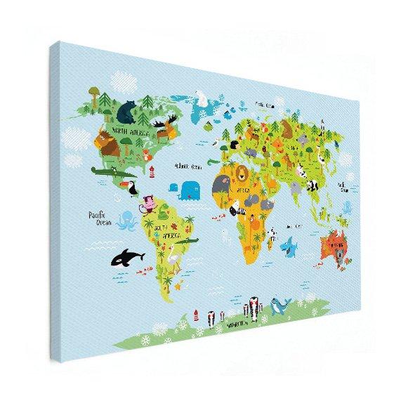 Wereldkaart Ons dierenrijk - baby