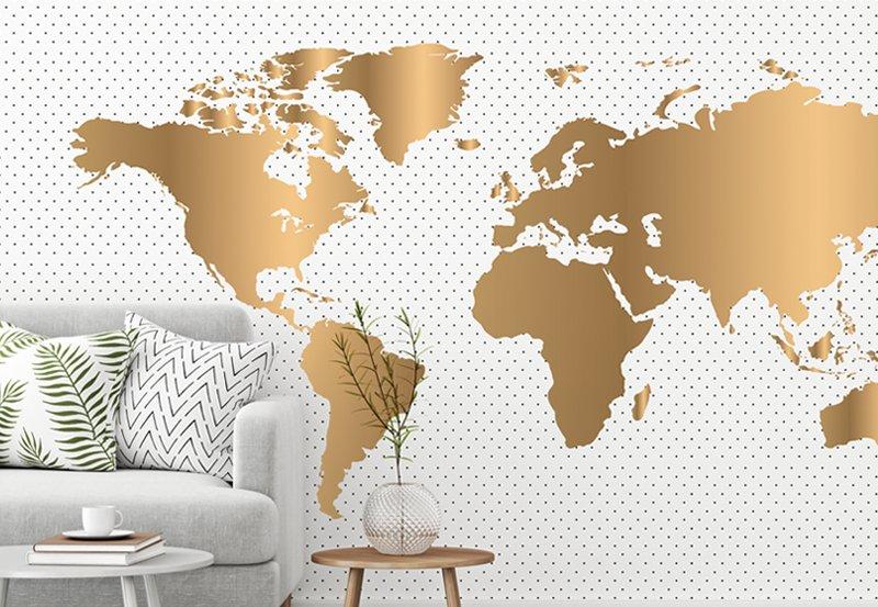 une carte du monde votre mur. Black Bedroom Furniture Sets. Home Design Ideas