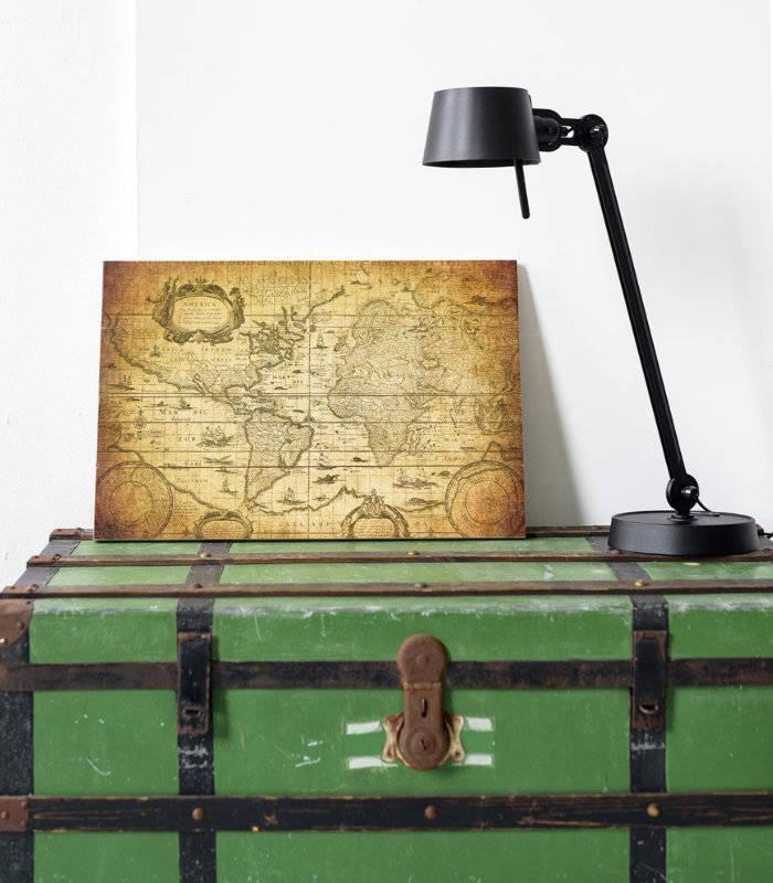 Historische wereldkaart op canvas