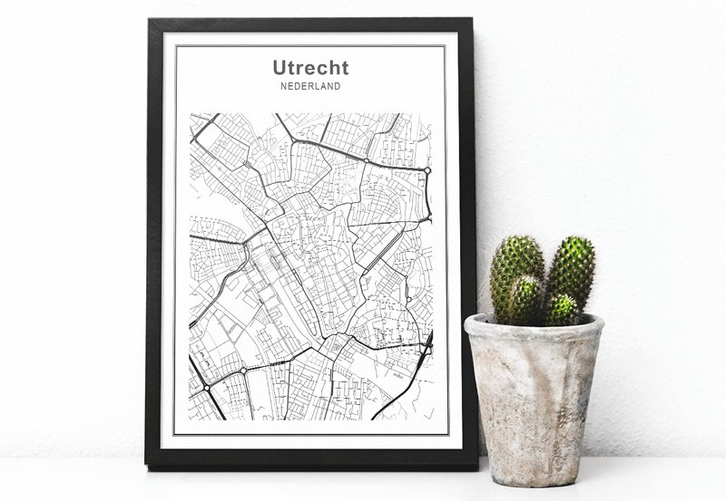 stadskaarten wanddecoratie