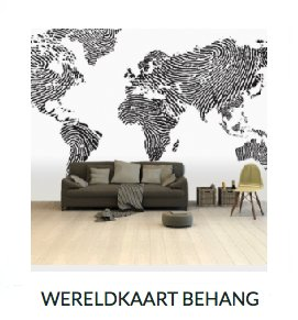 Wereldkaart behang