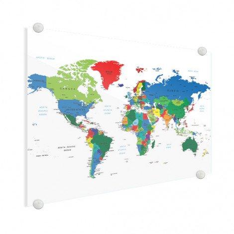 Wereldkaart glas