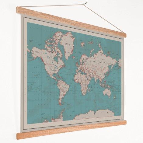 Wereldkaart schoolplaat